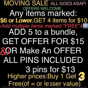MOVING SALE⚡️ALL MUST GO ASAP❤️ BUNDLE 4 LOW OFFER